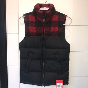 NWT NORTHFACE Buffalo Plaid Down Nuptse Vest